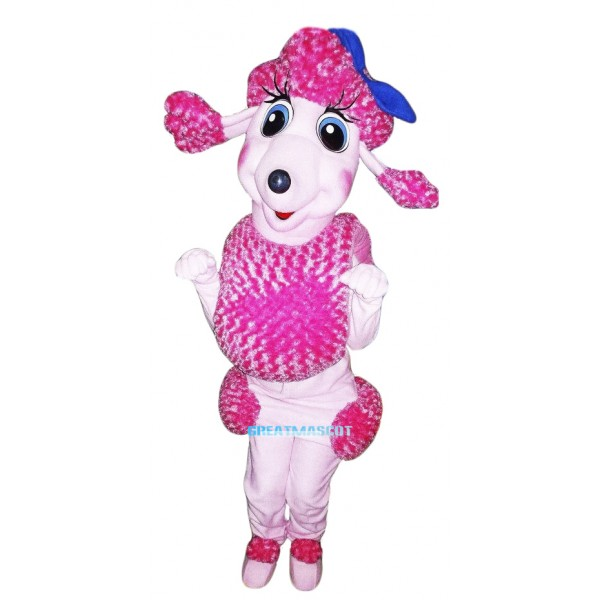 Pink French Poodle Mascot Costume Adult Costume