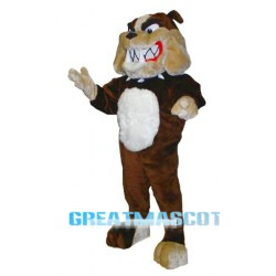 Brown Bulldog Mascot Costume Free Shipping