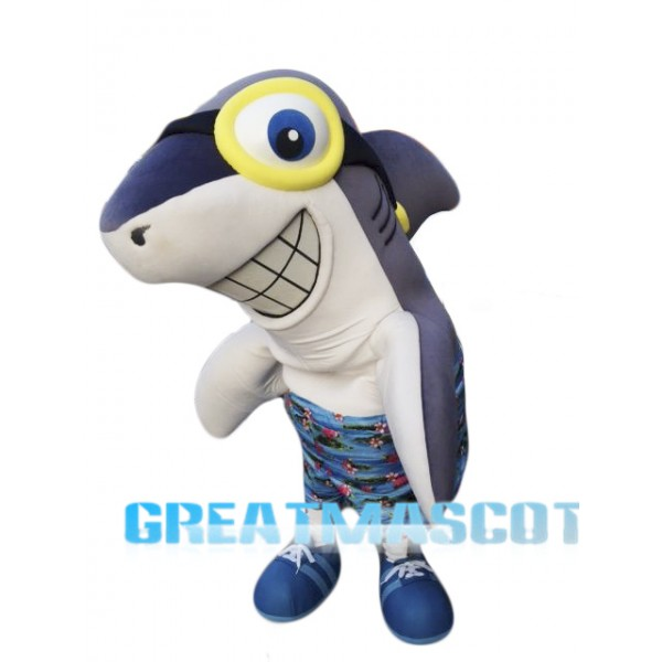 Smile Shark Mascot Costume