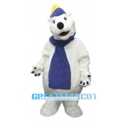 Happy Polar Bear Mascot Costume