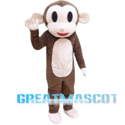 Plush Adult Monkey Mascot Costume