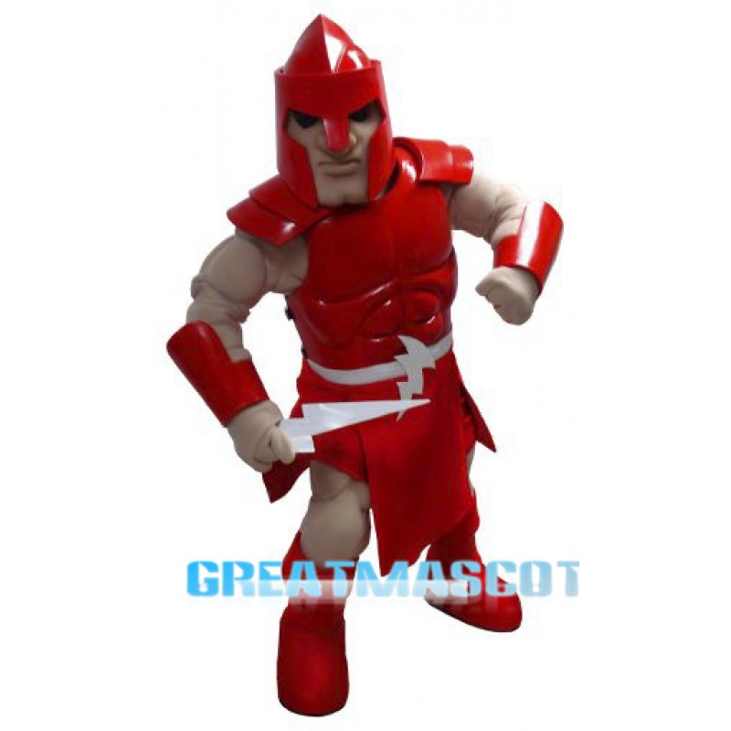 Red Titan Mascot Costume