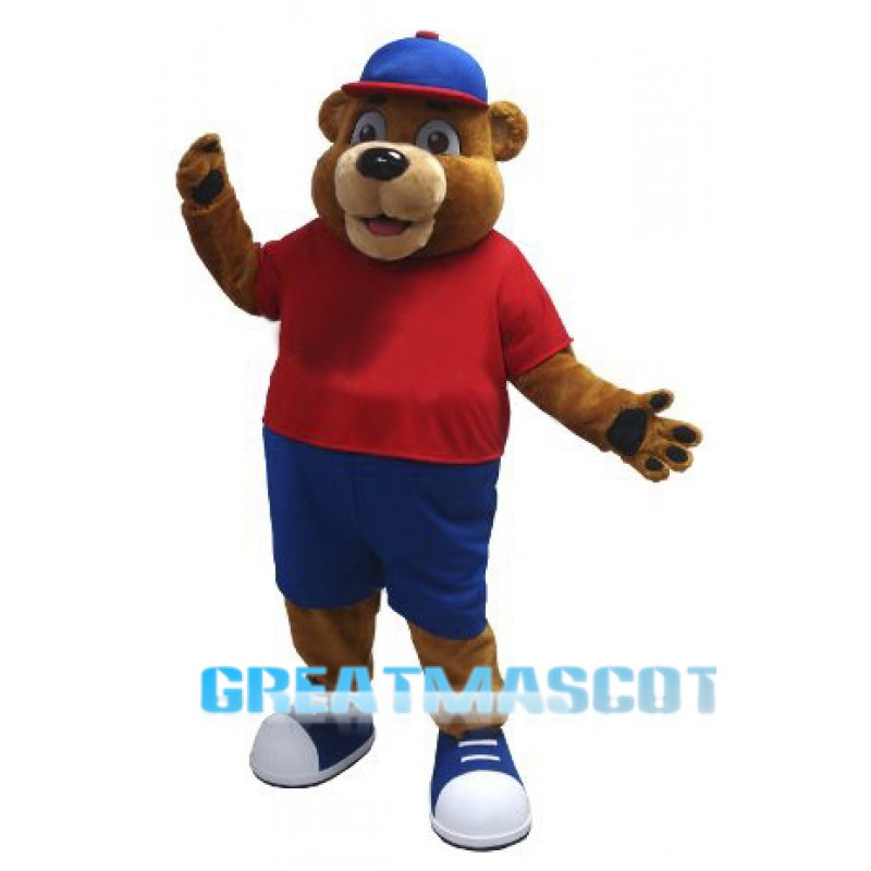 Happy Brown Animal Bear Mascot Costume