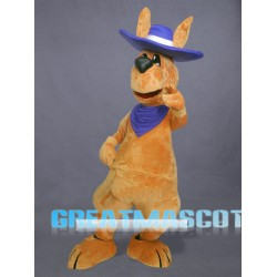 Friendly Adult Kangaroo Mascot Costume