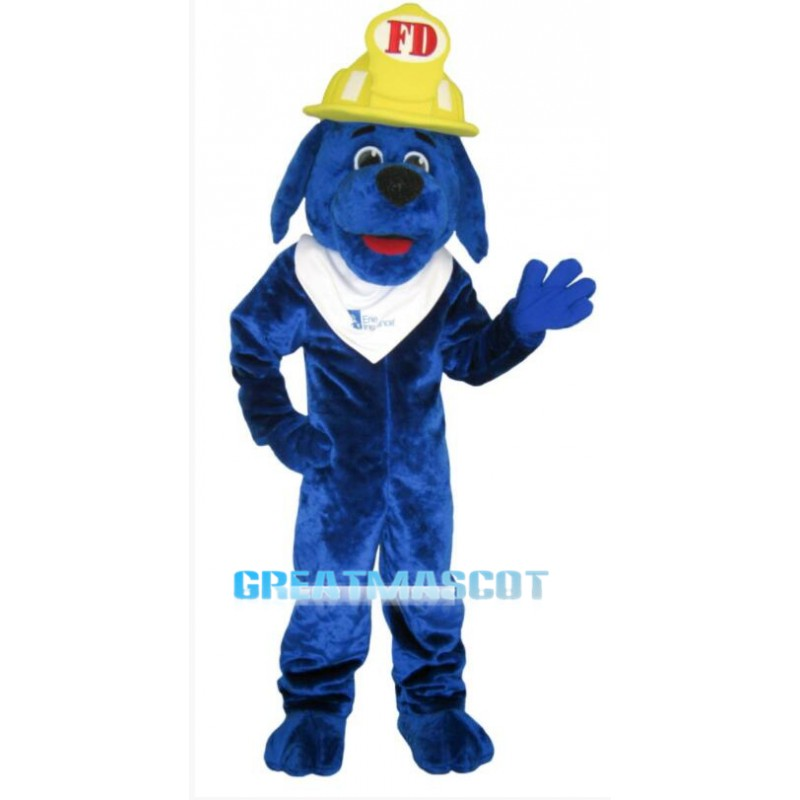 Blue Fire Dog Mascot Costume