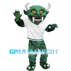 Green Devil Mascot Costume Free Shipping