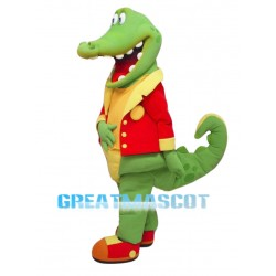 Happy Alligator Mascot Costume Free Shipping