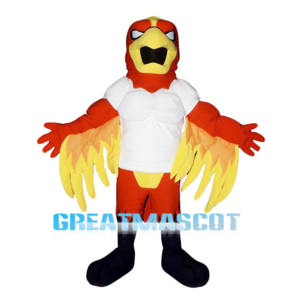 Red Power Fierce Bird Mascot Costume