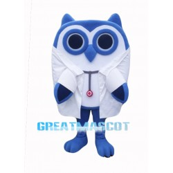 Cute Blue Owl Mascot Costume Free Shipping