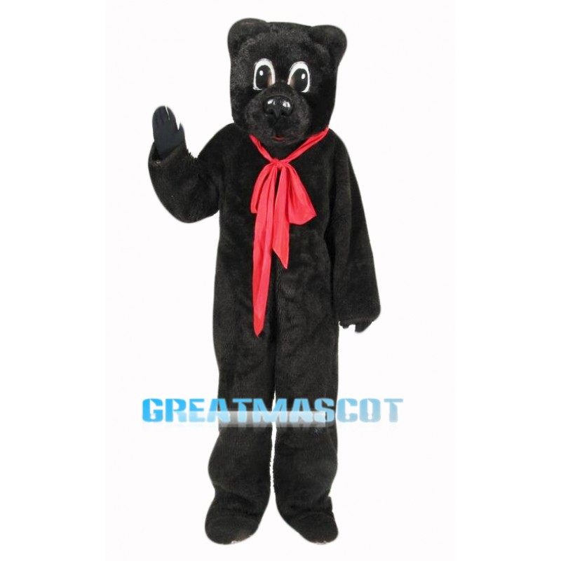 Black Storybook Bear Mascot Costume