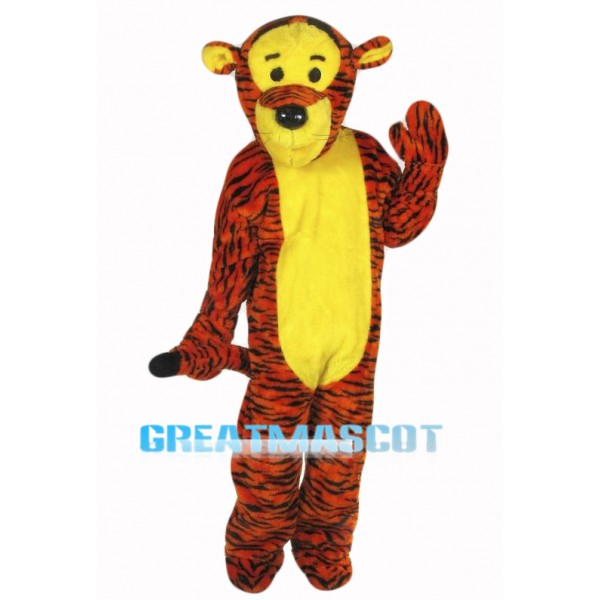 Bouncy Tiger Mascot Costume