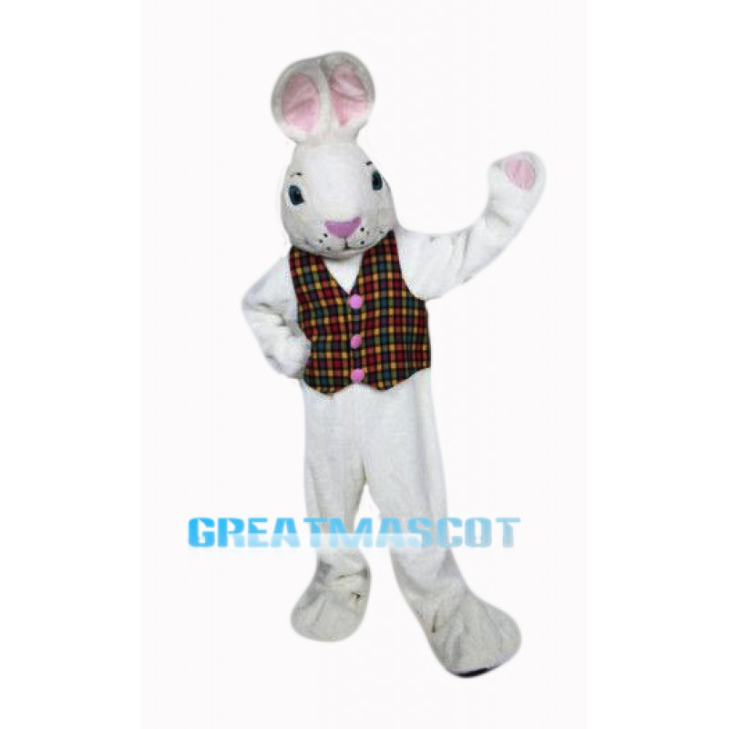 White Easter Bunny Mascot Costume