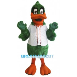 Green Duck Mascot Costume