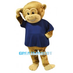 Cute Brown Monkey Mascot Costume
