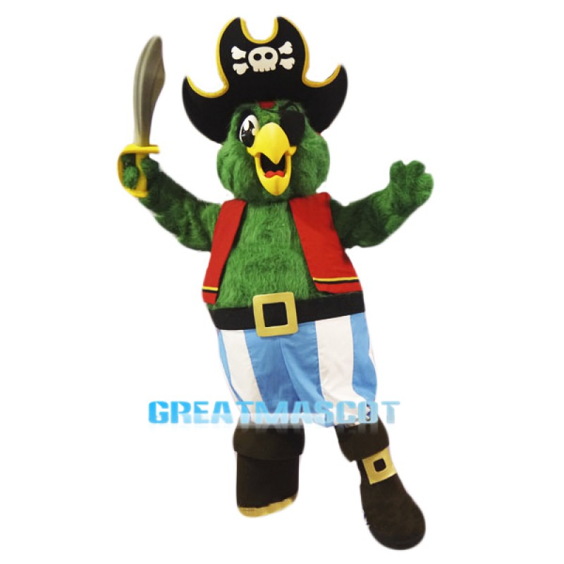 High Quality Pirate Parrot Mascot Costume