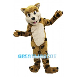 College Happy Bobcat Mascot Costume