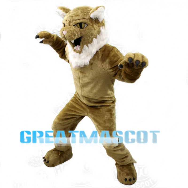 College Fierce Wildcat Mascot Costume