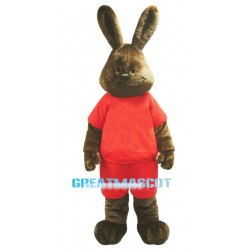 Happy Brown Rabbit Mascot Costume