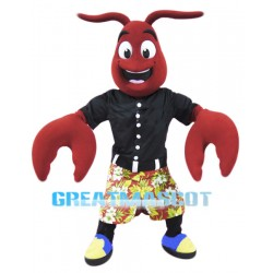 Happy Crawfish Mascot Costume