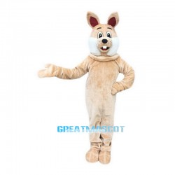 Brown Rabbit Mascot Costume