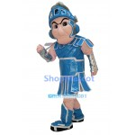 Light Blue Spartan Trojan Knight Sparty Mascot Costume