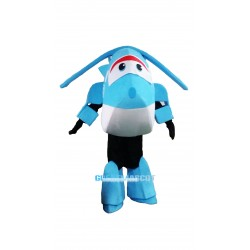 Super Wings Cartoon Light Blue  Jerome Mascot Costume