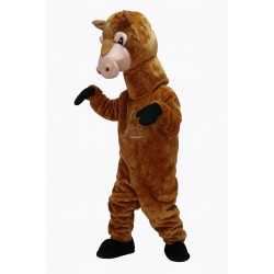 Brown Cute Horse Mascot Costume on Clearance