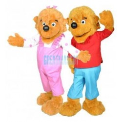 Berenstain Bear Brother Bear and Sister Bear Mascot Costume