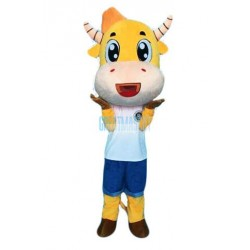 Cartoon Cow Mascot Costume Free Shipping