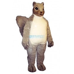 Cute Gray Squirrel Mascot Costume