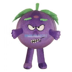 A Grape Mascot Costume Baddy Vegetable Costume for Adult