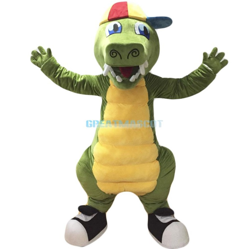 Green Crocodile Mascot Costume Alligator Costume for Adult