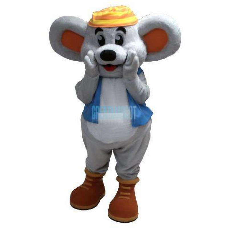 Friendly Mogul Mouse Mascot Costume Free Shipping