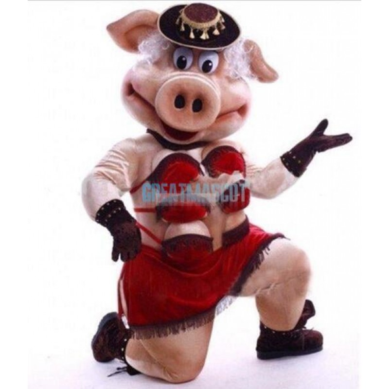 Female Pig Friendly Sow Mascot Costume Free Shipping