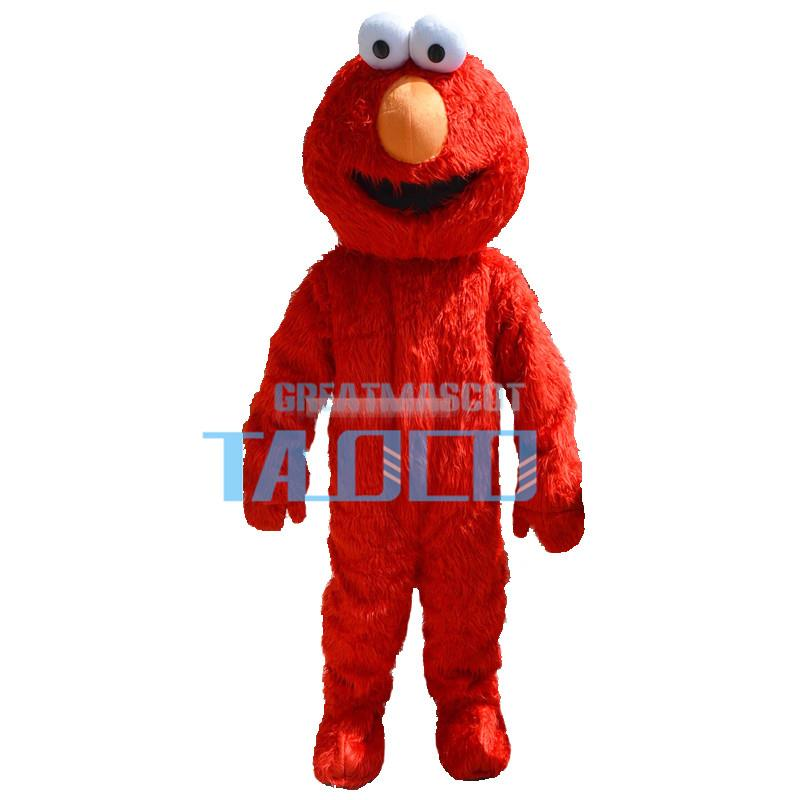 Sesame Street Red Elmo Monster Mascot Costume
