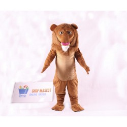 Cute Wally Lion Mascot Costume