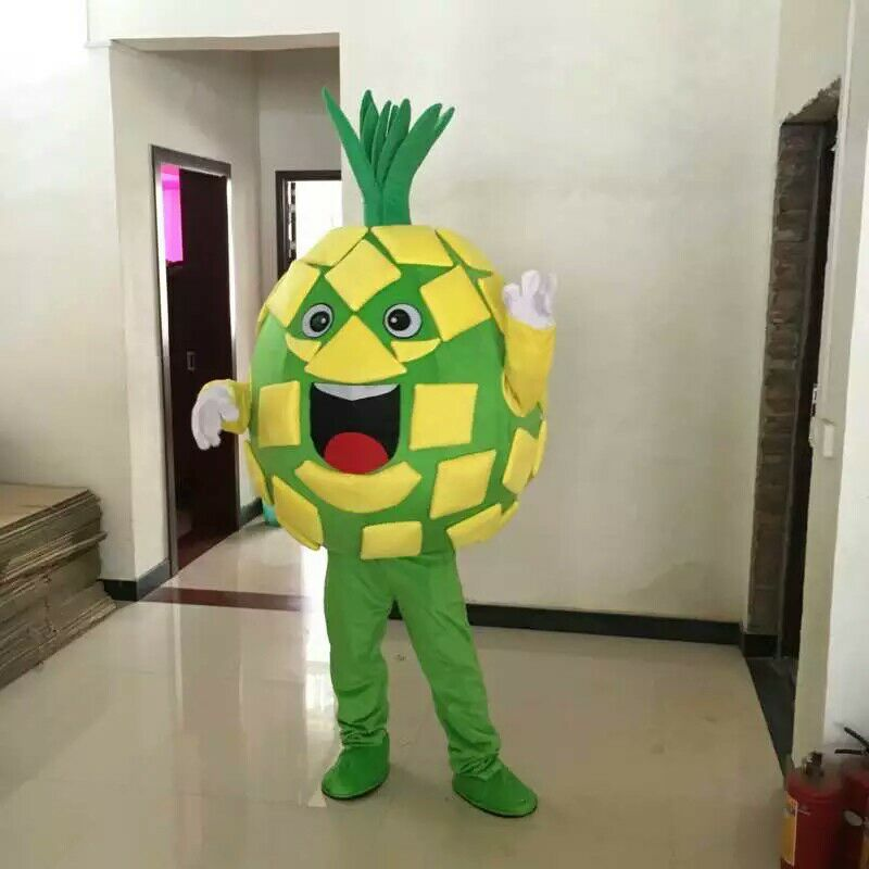 Pineapple Mascot Costume Fruits Vegetables Costume