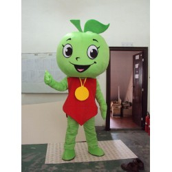 Green Apple Mascot Costume