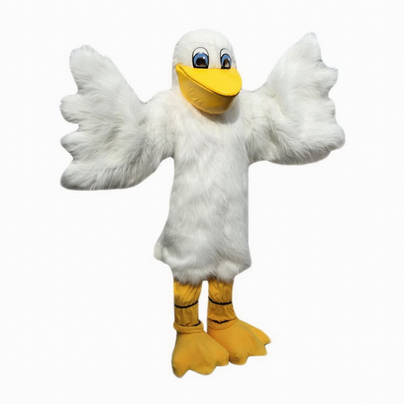 White Pelican Mascot Costumes Free Shipping
