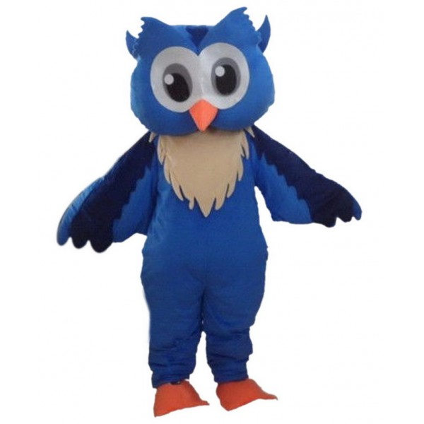 Blue Owl Mascot Costumes Free Shipping
