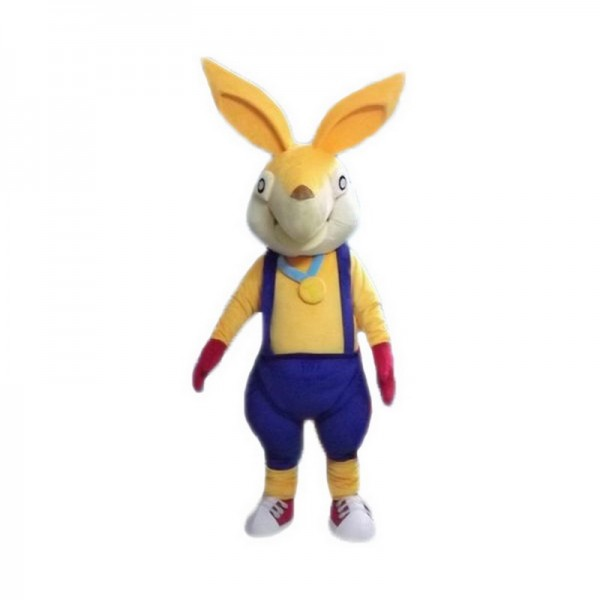 Yellow Rabbit Mascot Costumes Free Shipping