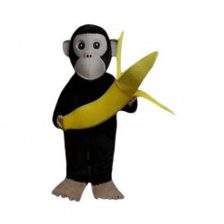 Chimpanzees and Banana Mascot Costumes Free Shipping