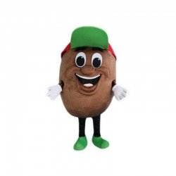 Green Hat Potato Mascot Costume