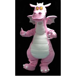 Pink Dragon Mascot Costume Free Shipping