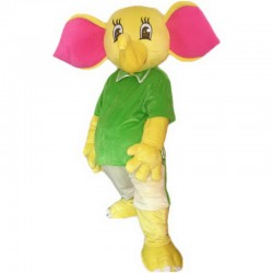 Yellow Elephant Mascot Costume Free Shipping