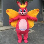 Butterfly Bunny Mascot Costume Free Shipping
