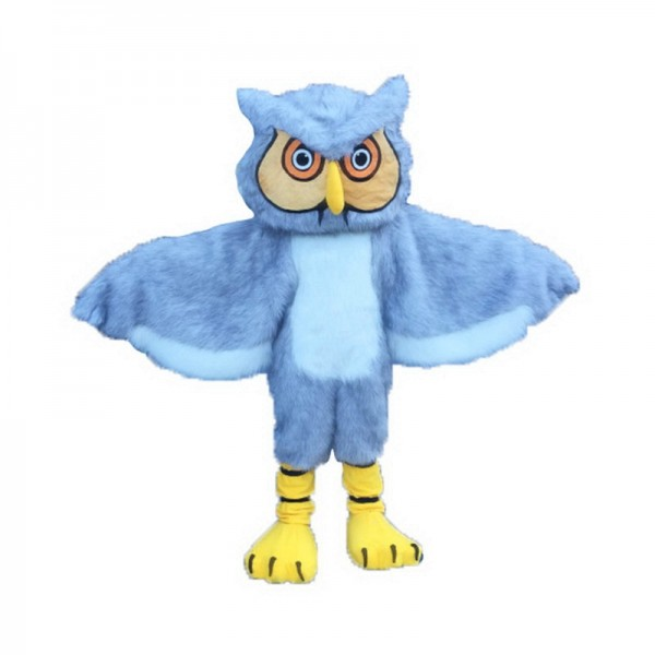 Gray Long-Haired Owl Mascot Costume Free Shipping