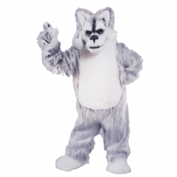 Deluxe Huskey Mascot Costume Free Shipping