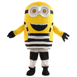 Black Two Eyes Laugh Despicable Me Minion Mascot Costume