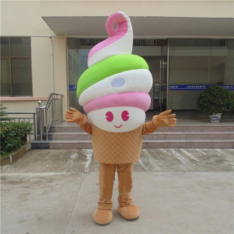 Ice Cream Delicious Carton Cone Mascot Costumes